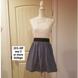 Tank dress sleeveless w/ pocket mini a-line